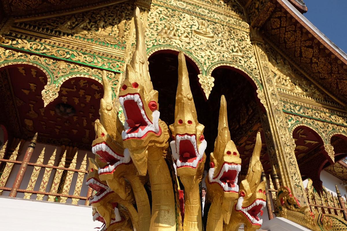 particolari palazzo reale Luang Prabang
