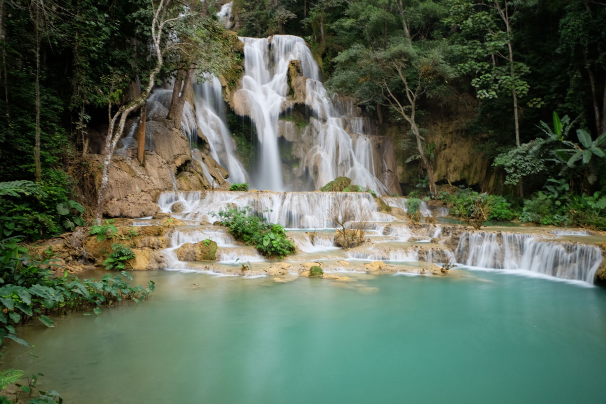 cascata Kuang Si Lao in Laos
