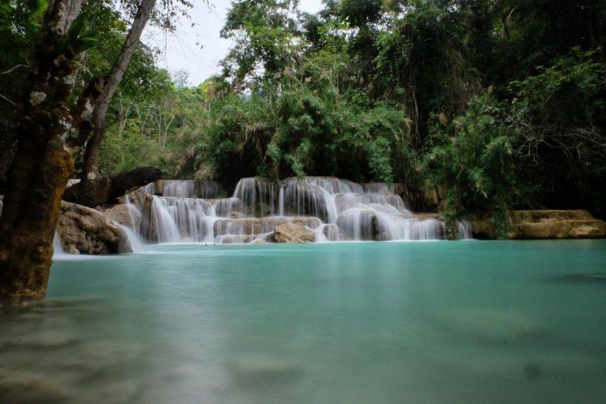 Cascata Kuang si Lao vicino Luang Prabang