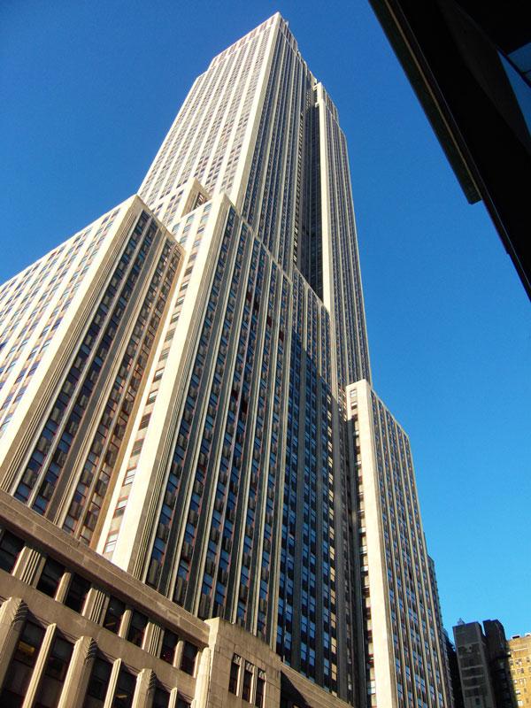 Empire State Building visto dal basso