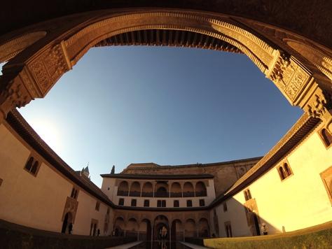 Interno della cittadella dell'Alhambra