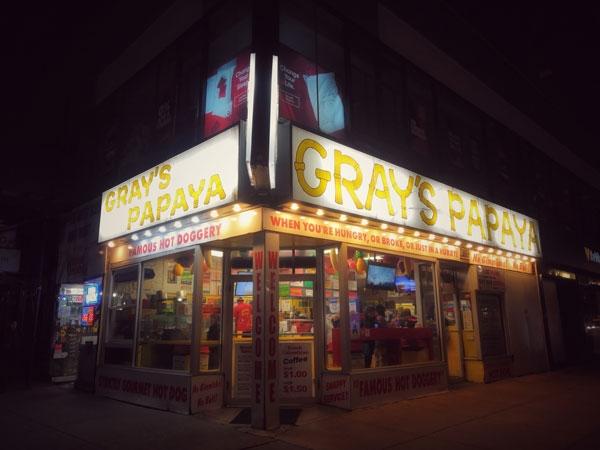 Gray's Papaya, l'originale! È nato nel 1973.