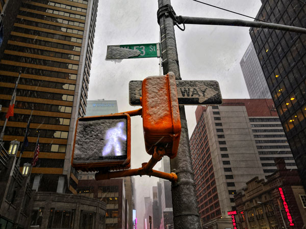 New York affascina anche sotto la neve