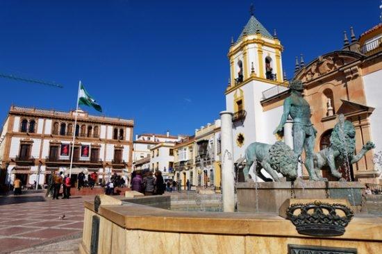 La piazza principale di Ronda