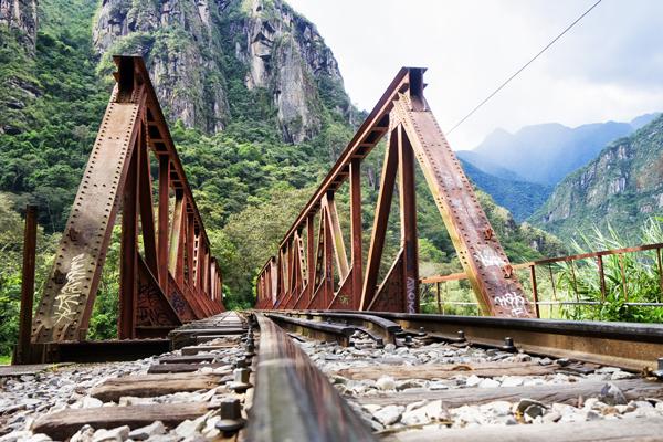Ponte della ferrovia lungo il percorso