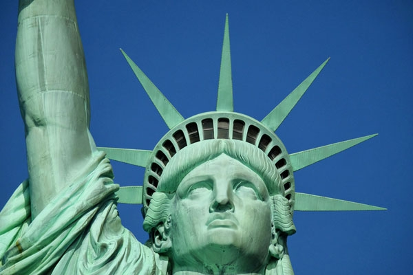 Lo sguardo fiero di Lady Liberty a New York
