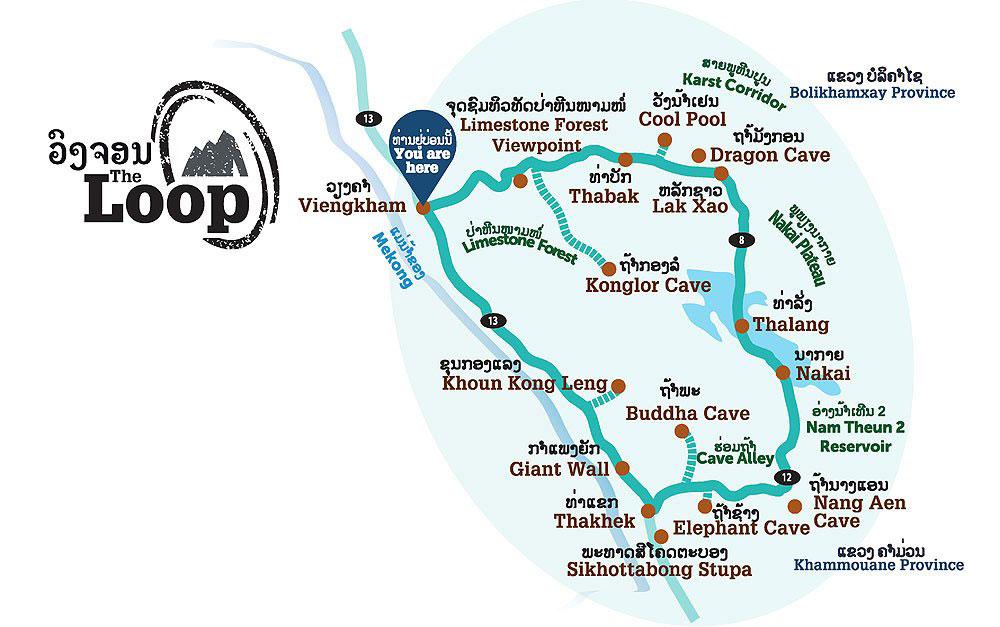 Mappa del loop di Thakhek