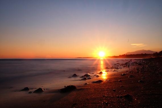 Tramonto sulla spiaggia di Marbella