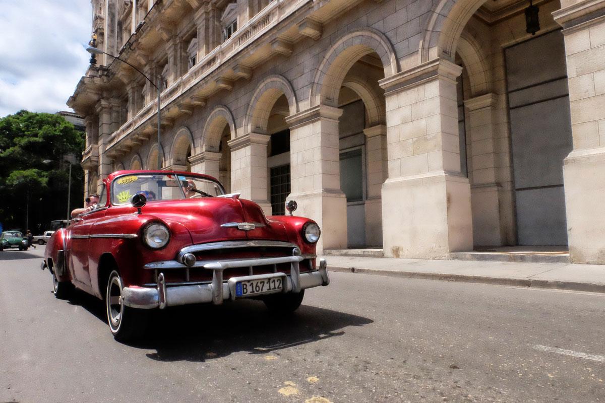 Auto americana anni '50 a l'Havana, Cuba