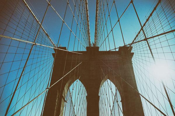 L'iconico ponte di Brooklyn