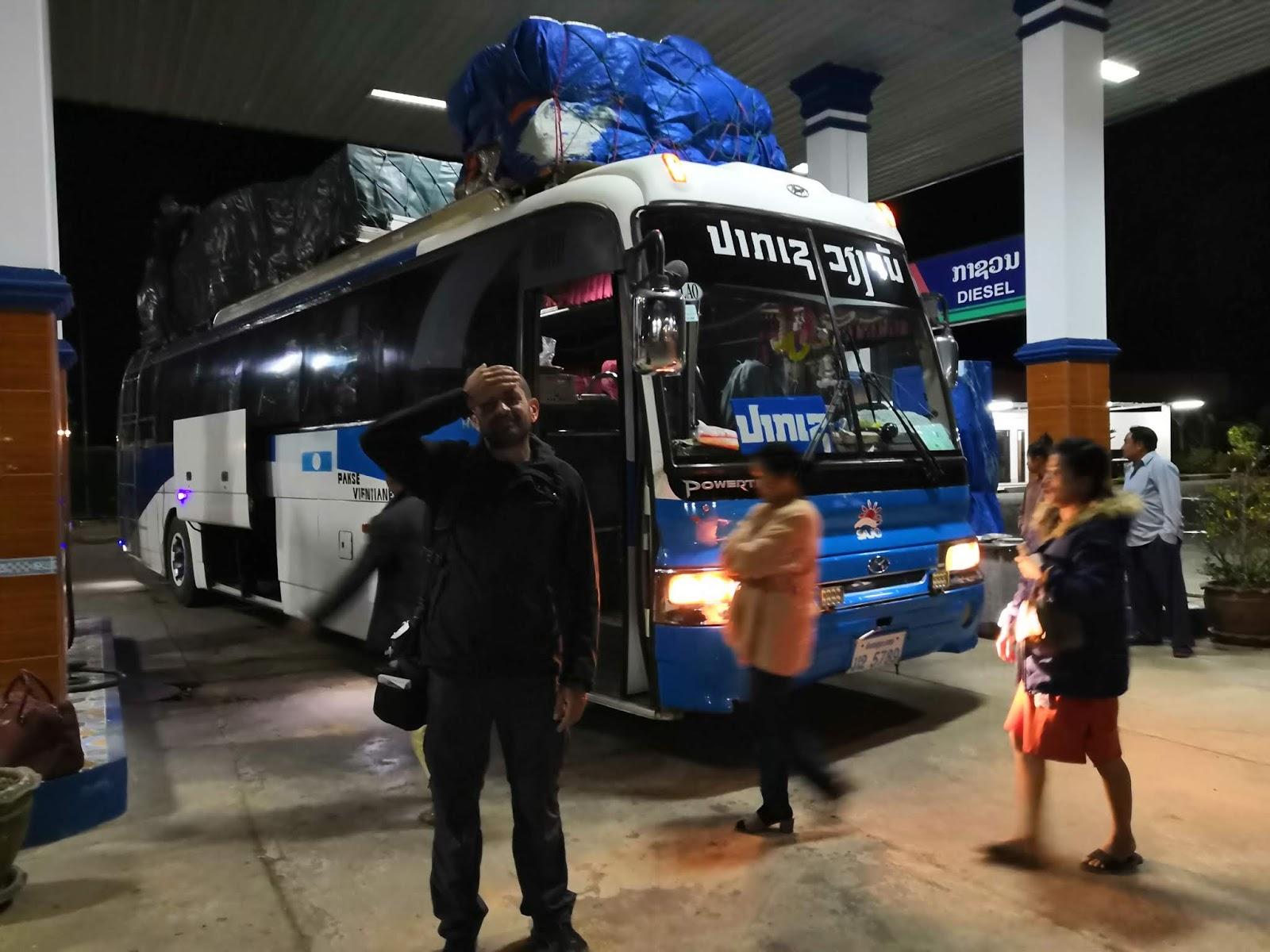 Bus notturno in Laos