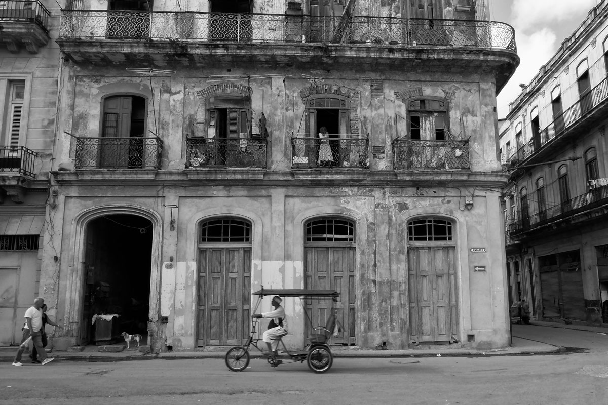 Edificio fatiscente a l'Havana, Cuba