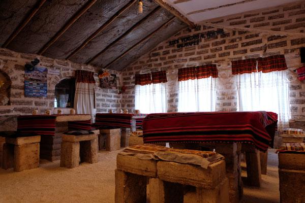 Interno di un hotel di sale in Bolivia