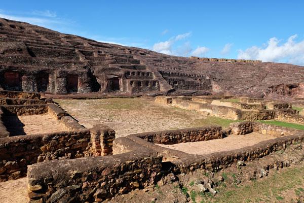 """Interno del sito di """"El Fuerte"""" a Samaipata in Bolivia"""