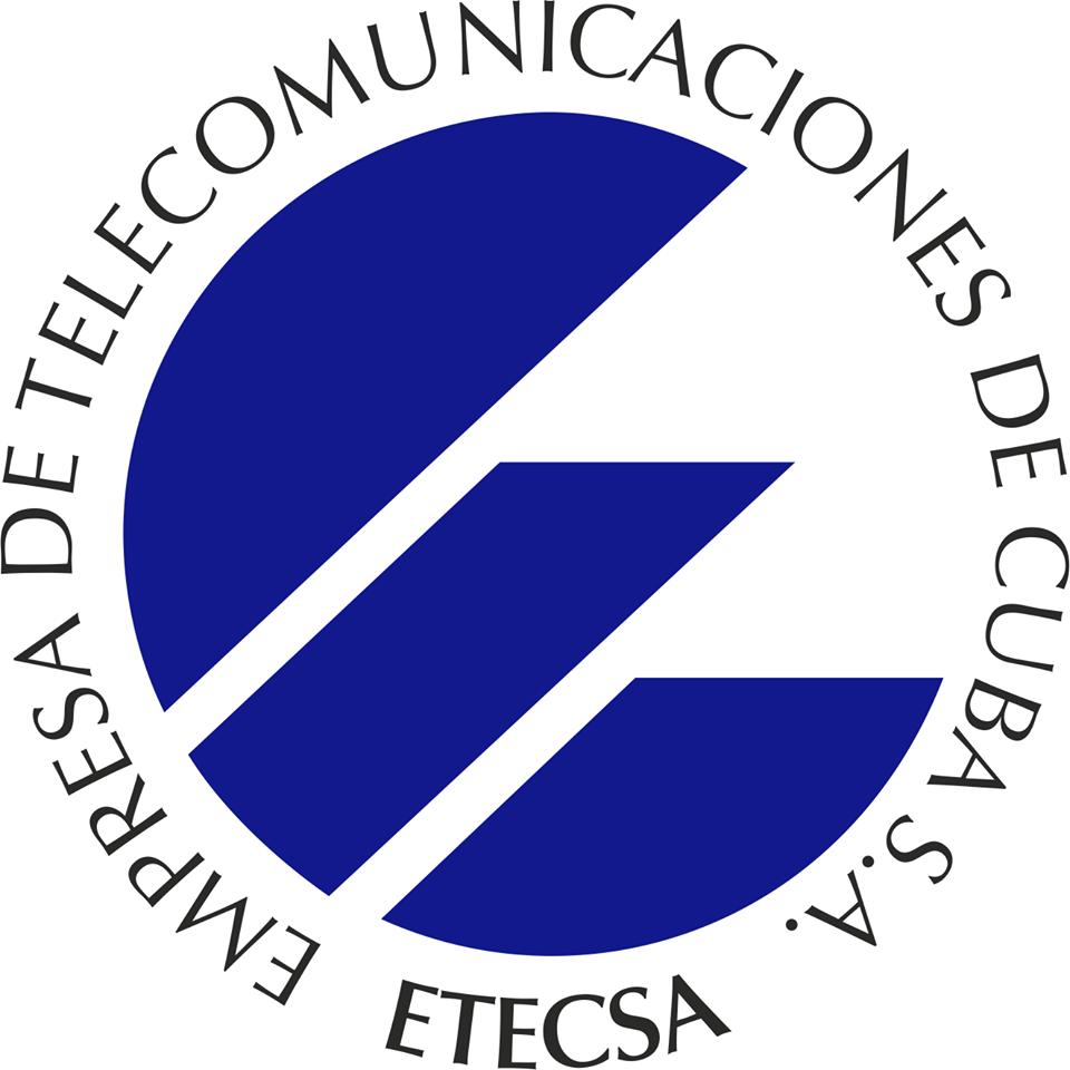 connessione internet a Cuba possibilie grazie ad Etesca, unica società di telefonia presente sull'isola. Questo il logo.