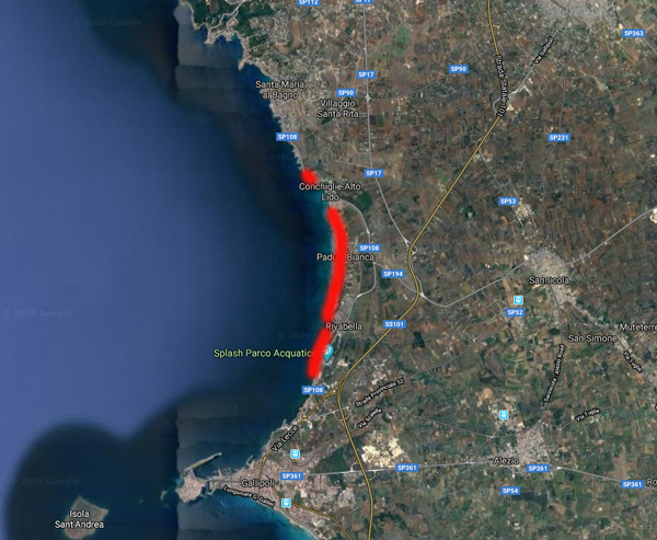 Dove trovare il mare calmo sullo Ionio quando soffia il Mezzogiorno