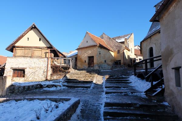 L'interno della Cittadella di Rasnov