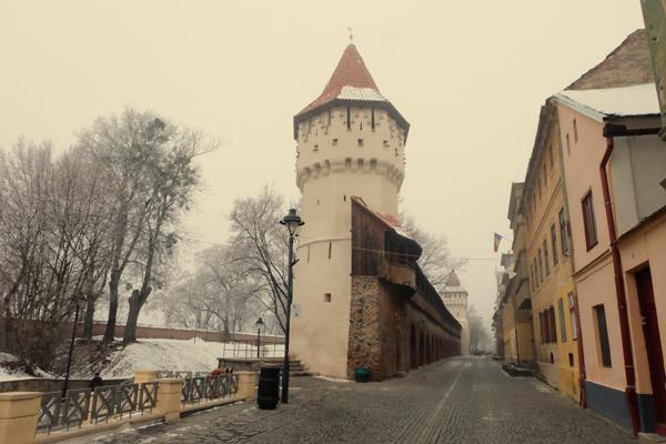 Torre lungo le mura di Sibiu