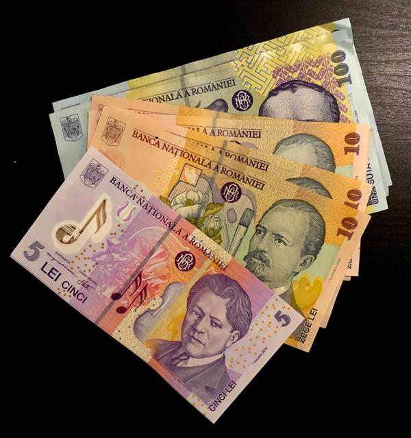 Banconote in corso del Leu rumeno