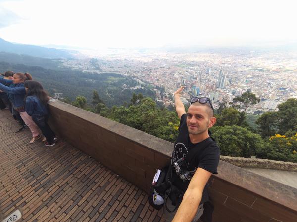 La visuale su Bogotà da Monserrate