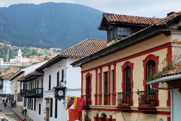 Palazzo coloniale a Bogotà. Inizia dalla capitale l'itinerario di 3 settimane in Colombia.