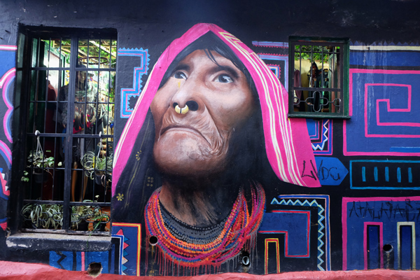 street art a Bogotà in Colombia