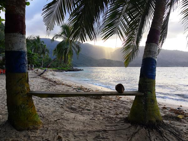 Playa Blanca a Panama. Potreste sconfinare in un altro Paese durante il vostro  itinerario di 3 settimane in Colombia.